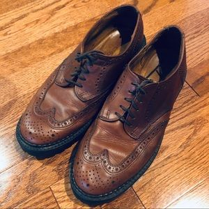 J Crew Oxford Wingtips Leather Brown Mens Size 9.5